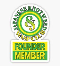 Japanese Knotweed and Wasp Club Founder Member Sticker