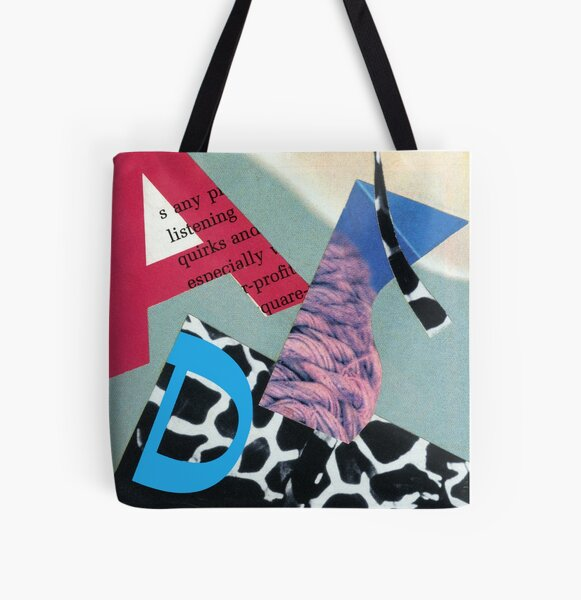 Animal Dominos abstract collage All Over Print Tote Bag