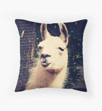 What The Llama Throw Pillow