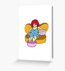 character 4 Greeting Card