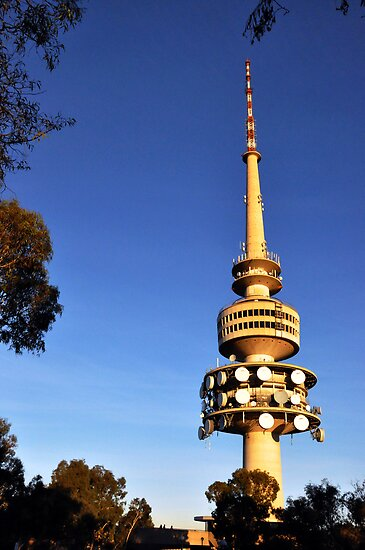 telstra tower black mountain canberra posters by lu138. Black Bedroom Furniture Sets. Home Design Ideas