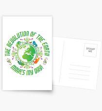 Wissenschaftslehrer Earth Revolution! Tag der Erde-T-Shirt Postkarten