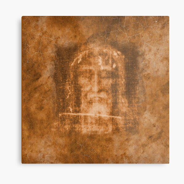 The Shroud of Turin Holy Face Crucifix Cross Jesus Passion 101 OA Metal Print