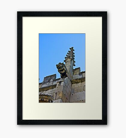 Gargoyle - St Olaves, Marygate,York Framed Print