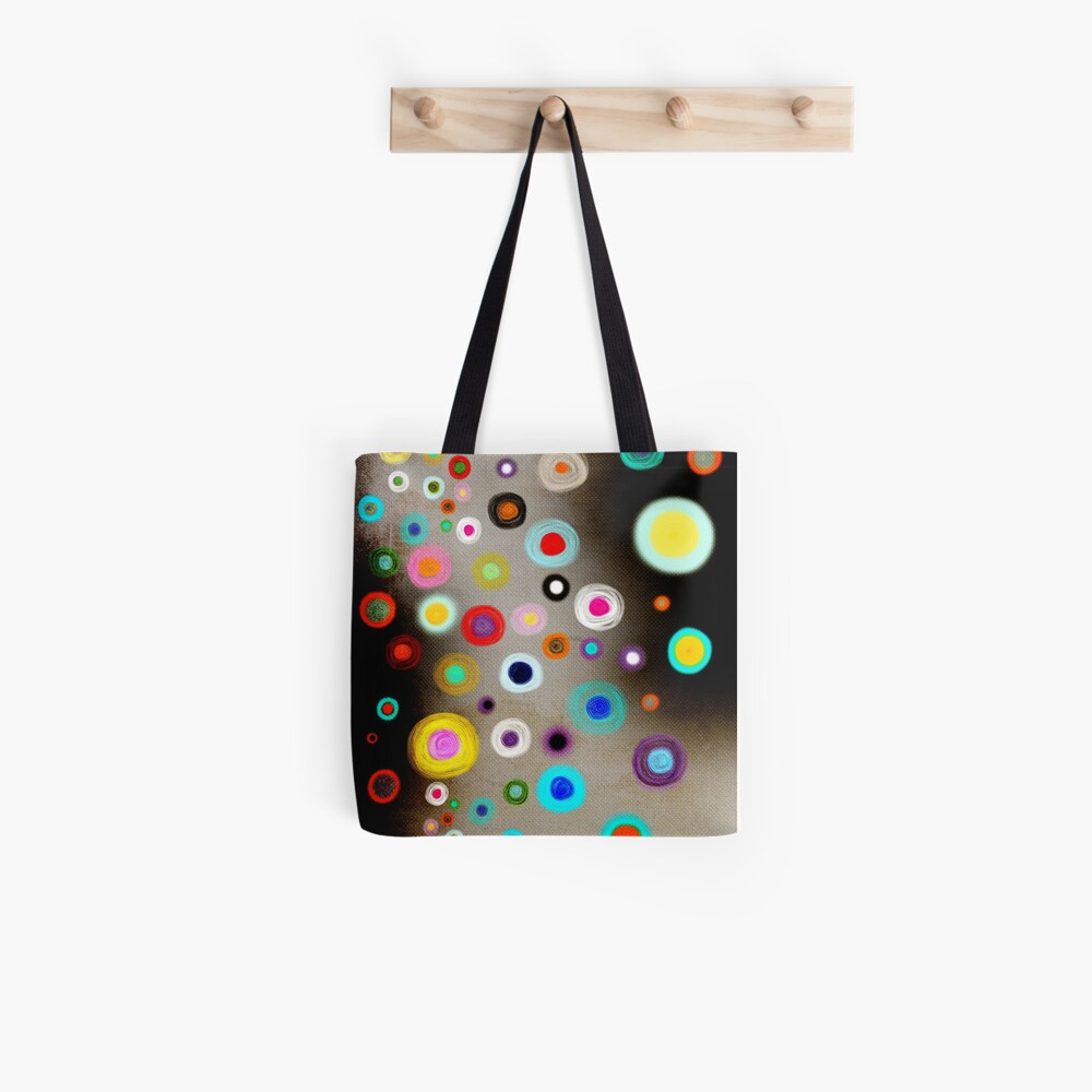 Poppies colorful Snow Landscape Tote Bag