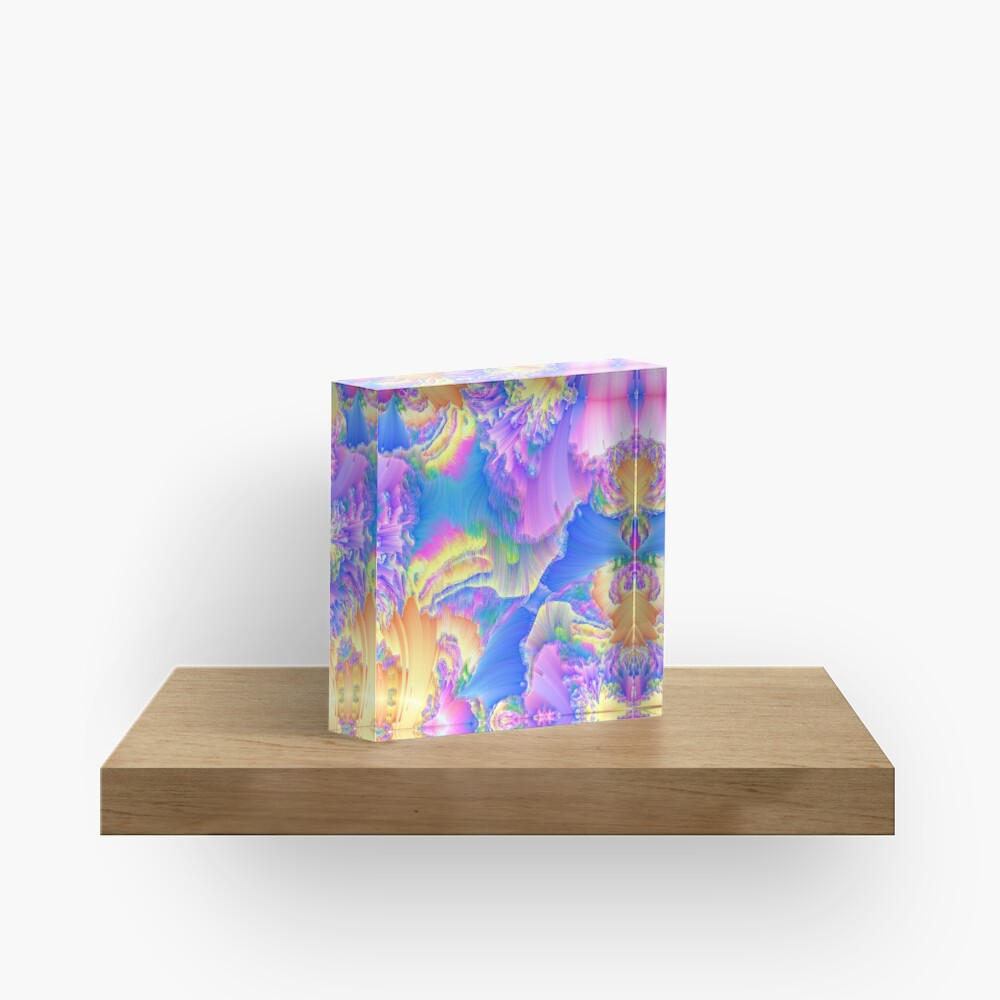 Abstraction of royal blue bass Acrylic Block