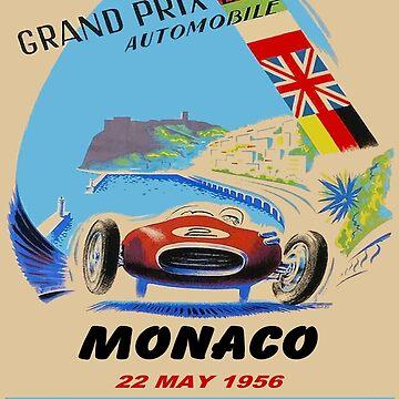 MONACO: Grand Prix von 1955, Autorennsport von posterbobs