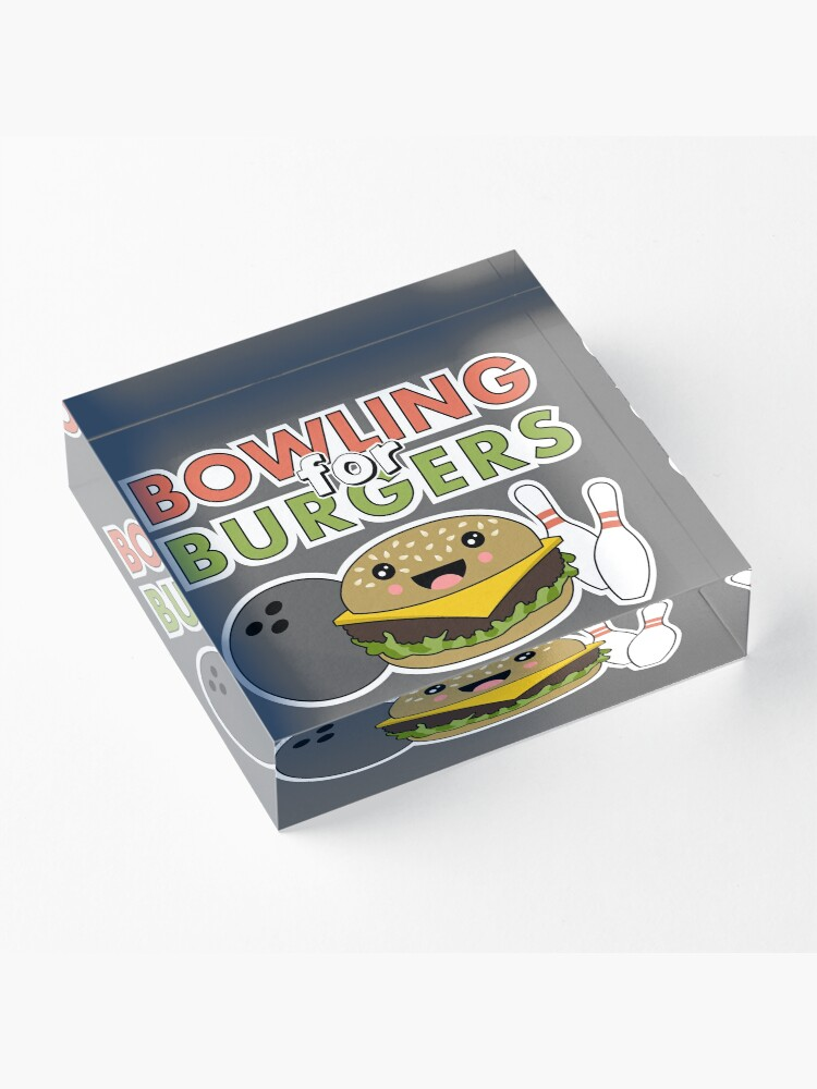 Alternate view of Bowling For Burgers Acrylic Block