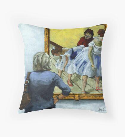 The Dance of Life - woman and Degas Throw Pillow