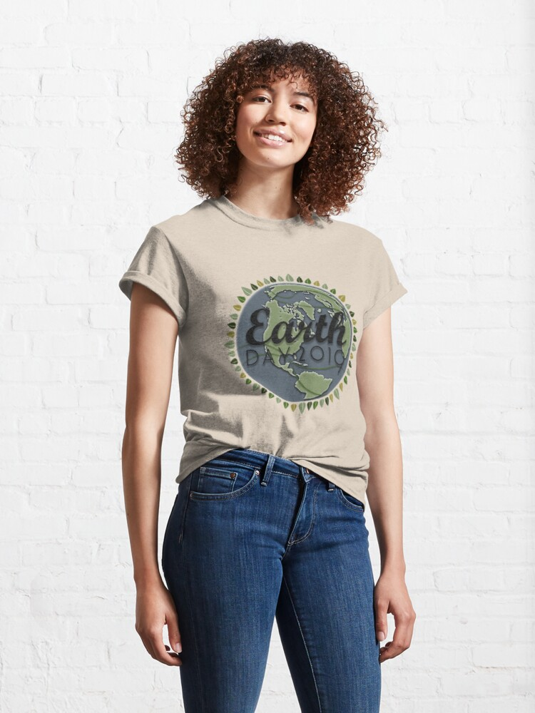 Alternate view of Earth Day 2019 - Textured paper Classic T-Shirt