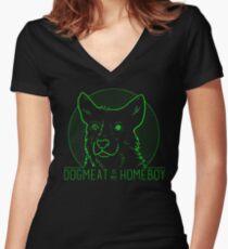 Camiseta entallada de cuello en V Dogmeat es mi Homeboy