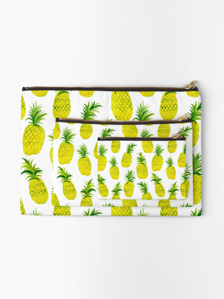 Alternate view of Pineapple Party! Lets get tropical Zipper Pouch
