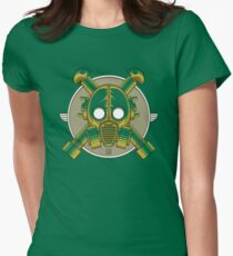 Art Deco Gasmask (Transparent) Womens Fitted T-Shirt