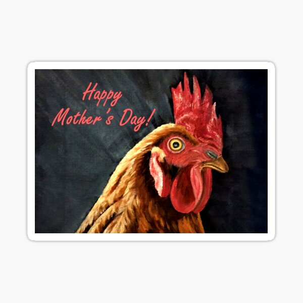 Mother's Day Card - Little Red Hen Sticker