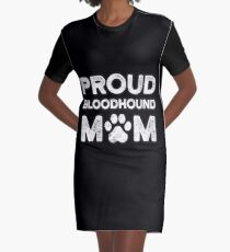 Bloodhound Mom, stolze Hundemama T-Shirt Kleid