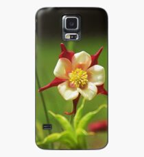 Pink Columbine fully opened Case/Skin for Samsung Galaxy