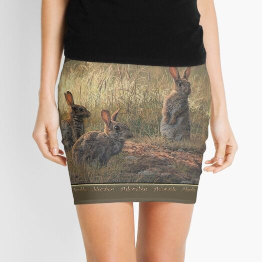 "Cute Young Rabbits - ""Adorable"" Mini Skirt Mini Skirt"