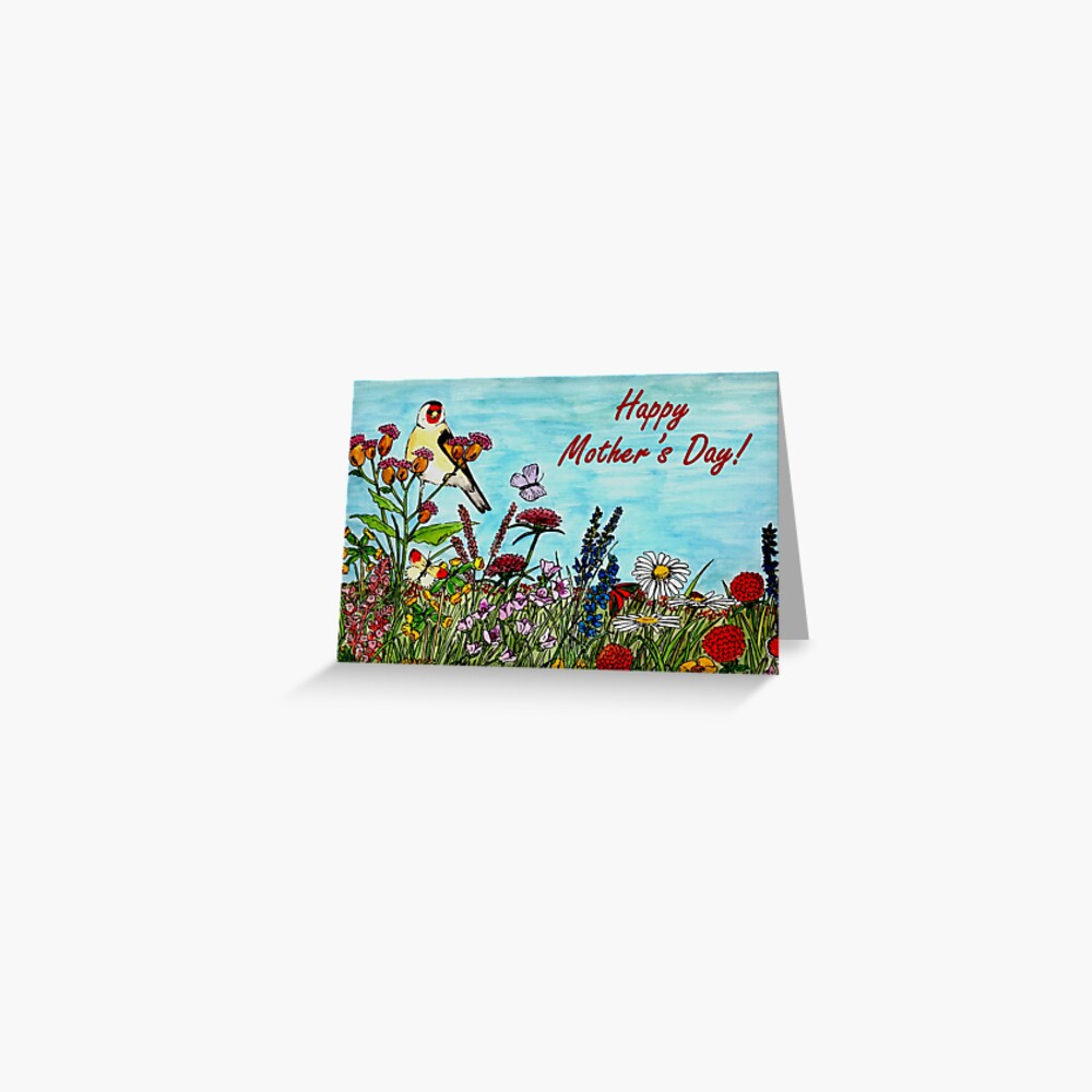 Mother's Day Card - Flower Meadow Greeting Card