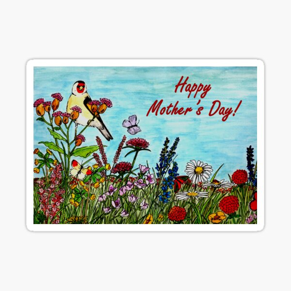 Mother's Day Card - Flower Meadow Sticker