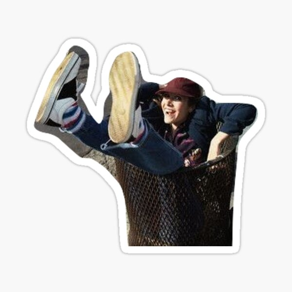 Carrie Fisher in a Trash Can Sticker