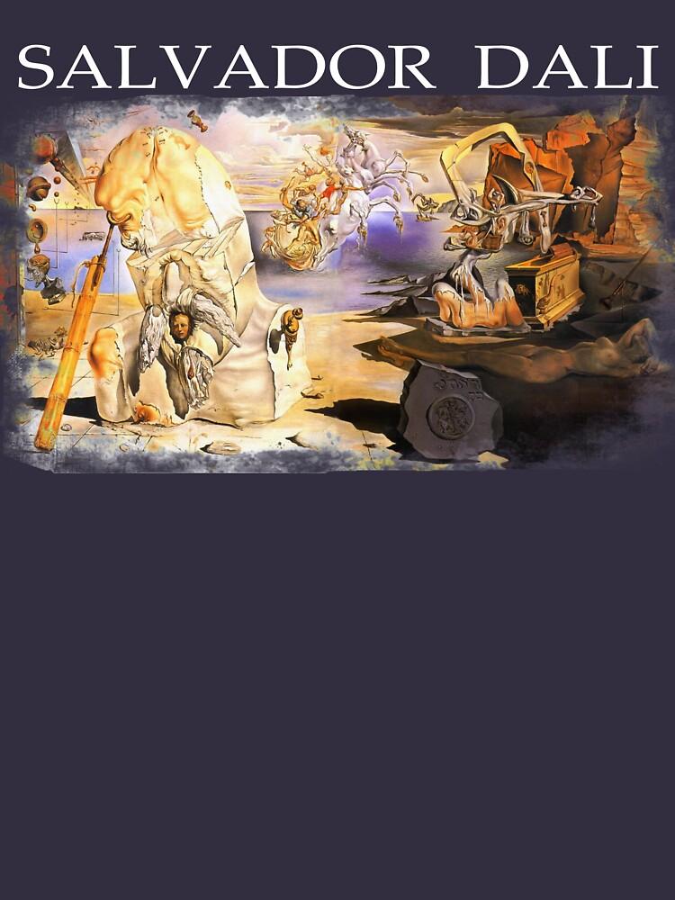 Salvador Dali The Apotheosis Of Homer,  1945 Distressed Original Artwork Reproduction Design, Tshirts, Posters, Jerseys by clothorama