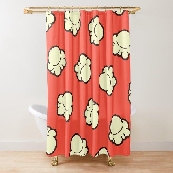 Popcorn Pattern Shower Curtain