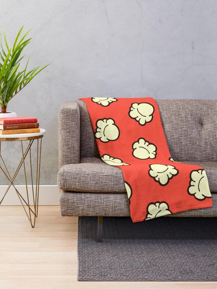 Alternate view of Popcorn Pattern Throw Blanket