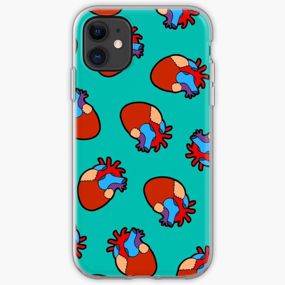 Anatomical Heart Pattern iPhone Soft Case