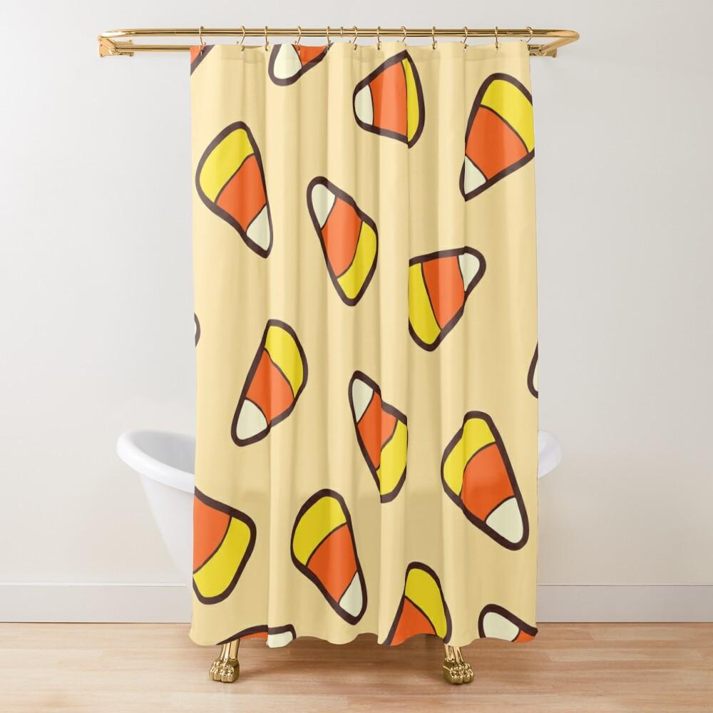 Candy Corn Pattern Shower Curtain