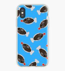 Vinilo o funda para iPhone Sushi Fish Fish Pattern en azul