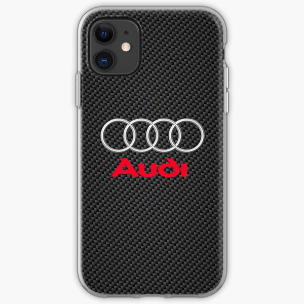 Awesome Audi Carbon Logo iPhone Soft Case
