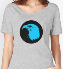 Bald Eagle in Blue T-Shirt Women's Relaxed Fit T-Shirt