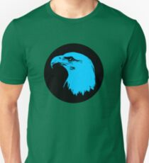 Bald Eagle in Blue T-Shirt Unisex T-Shirt