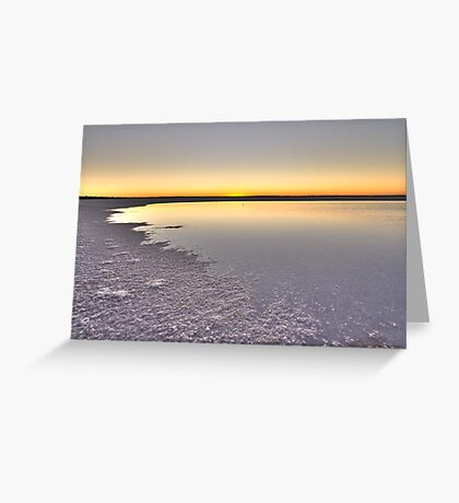 Lake Hart Sunset - South Australia Greeting Card