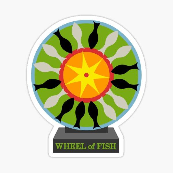 Wheel of Fish Sticker