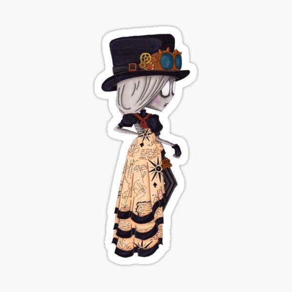 Lady Steampunk Sticker