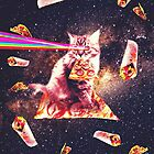 Outer Space Pizza Cat - Rainbow Laser, Taco, Burrito by SkylerJHill
