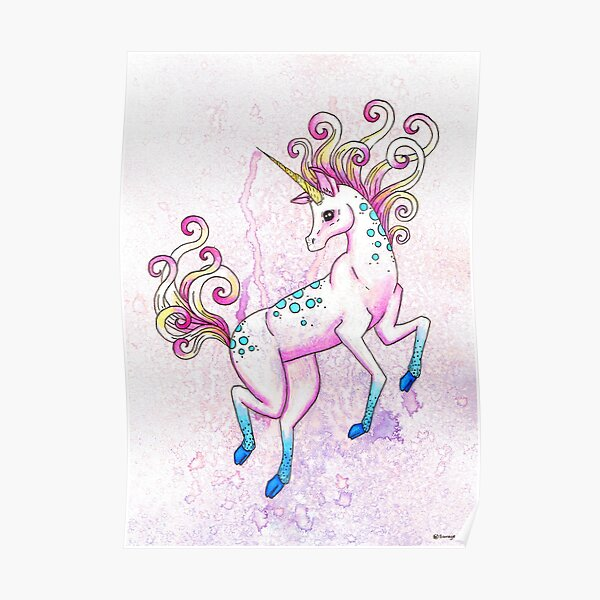 Bubblegum Unicorn Poster