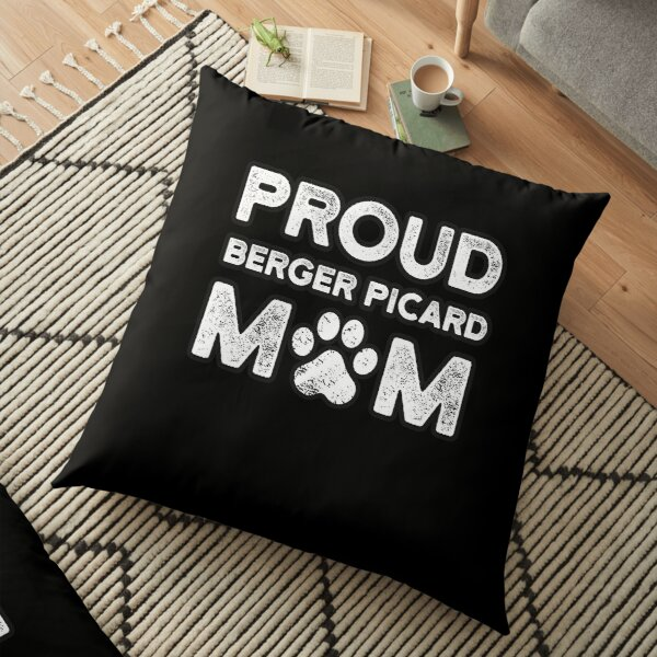 Berger Picard Mom, Proud Dog Mama Floor Pillow