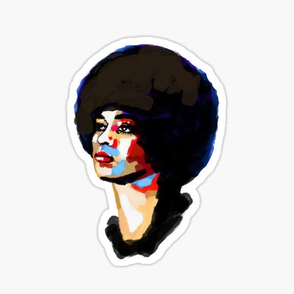 Angela Davis portrait  Sticker