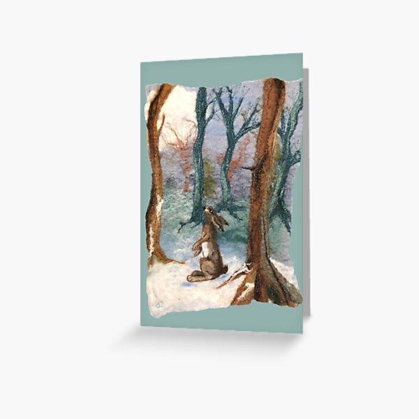 Moon Gazing Hare Greeting Card