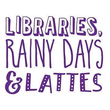 Libraries, rainy day and LATTES by jazzydevil