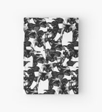 just penguins black white Hardcover Journal
