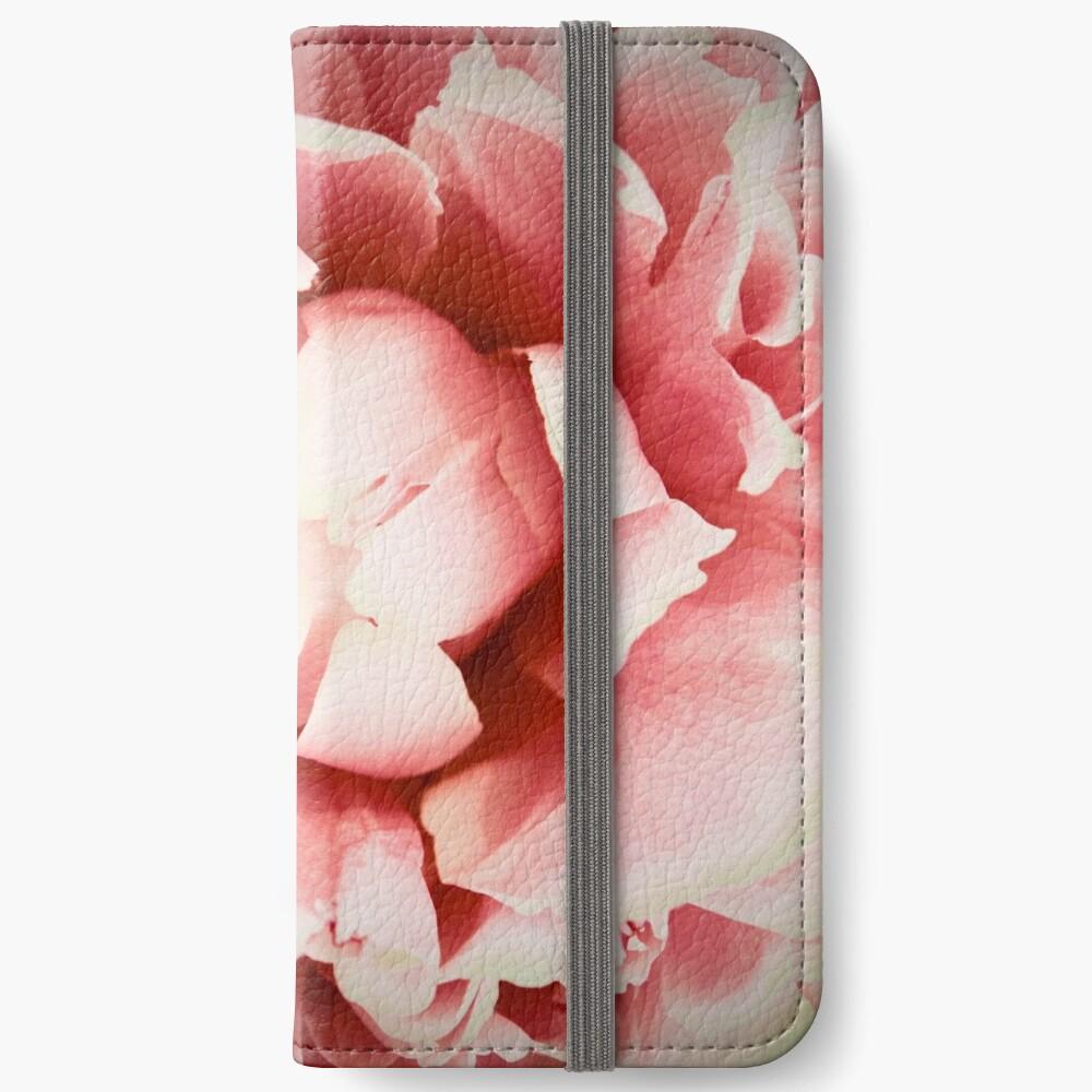 Peach Peony iPhone Wallet