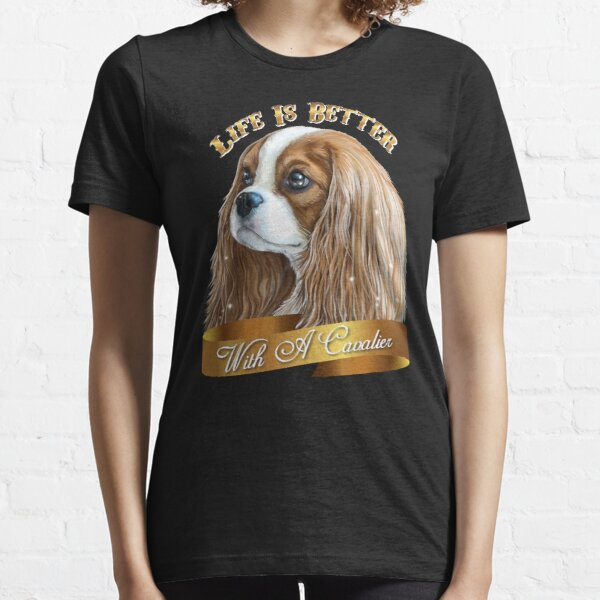 Cavalier King Charles Spaniel, King Charles Spaniel Gifts, Cavalier King Charles Spaniel Art, Blenheim Cavalier Essential T-Shirt
