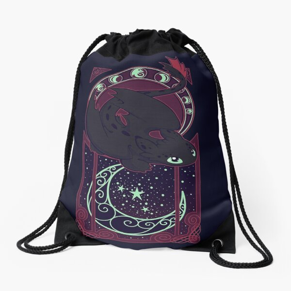 Moon-Dragon Drawstring Bag