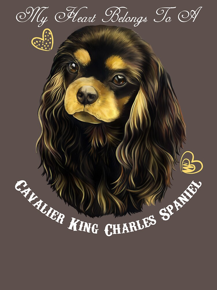 Cavalier King Charles Spaniel, King Charles Spaniel Gifts, Cavalier King Charles Spaniel Art, Black And Tan Cavalier by rvyalkov