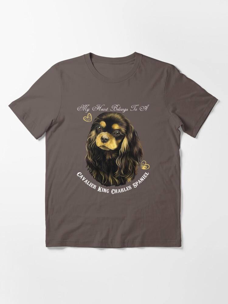 Alternate view of Cavalier King Charles Spaniel, King Charles Spaniel Gifts, Cavalier King Charles Spaniel Art, Black And Tan Cavalier Essential T-Shirt