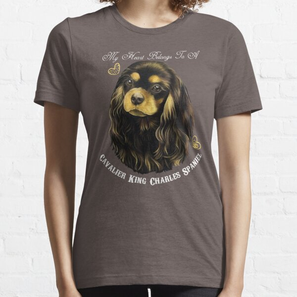 Cavalier King Charles Spaniel, King Charles Spaniel Gifts, Cavalier King Charles Spaniel Art, Black And Tan Cavalier Essential T-Shirt