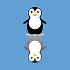 LONELY PENGUIN REFLECTING by Jean Gregory  Evans